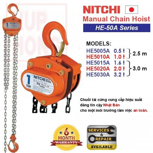 Tời điện Palăng Nitchi - HE-50A Series