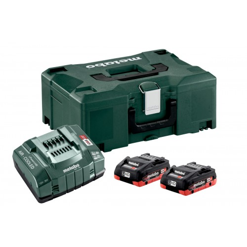 Bộ 2 Pin Xạc Metabo BASIC SET 2 X LIHD 4.0 AH + METALOC
