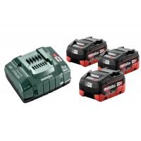 Bộ 3 Pin Xạc Metabo 18v 3 X 5.5ah LiHD Battery ASC 145 Charger