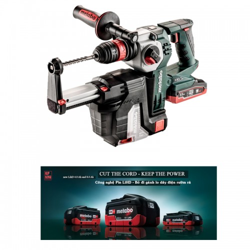 KHA 18 LTX BL 24 QUICK SET ISA CORDLESS HAMMER METABO