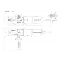 Máy mài góc đầu dẹt không dây METABO WF 18 LTX 125 QUICK